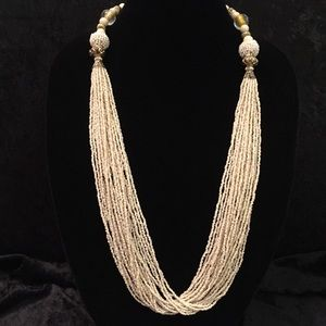 Jewelry - Ivory Seed Bead Necklace x11